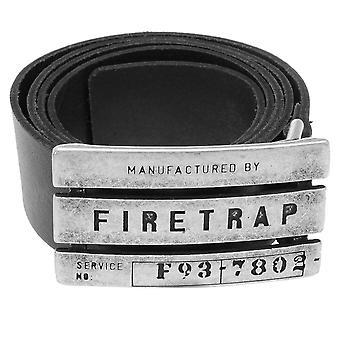 Firetrap Mens Gents Gate riem stijlvolle dagelijks gebruik Buckle Logo Branded