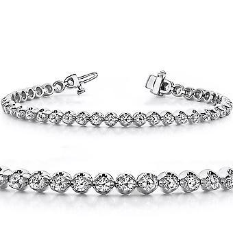 1ct Diamond Classic Tennis Bracelet 10k White Gold 7