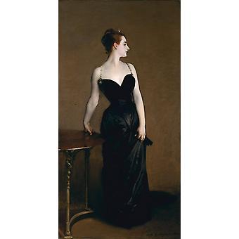 Madame X, John Singer Sargent, 80x40cm