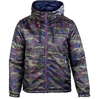 Caterpillar Mens Flight Reverse Hooded Reversible Jacket