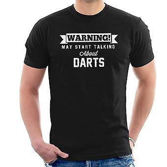 Warnung kann reden Darts Herren T-Shirt
