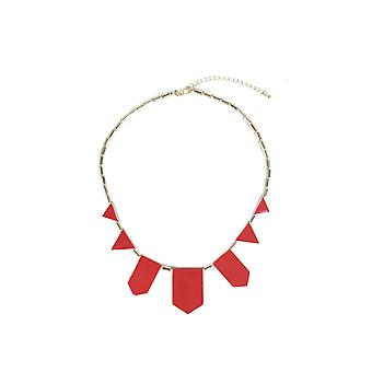 Lovemystyle Gold Necklace With Red Shape Detail