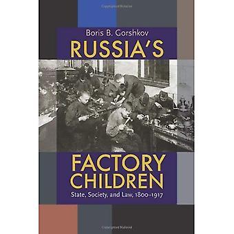 Crianças de fábrica da Rússia: estado, sociedade e direito, 1800-1917 (Pitt russo Leste Europeu)