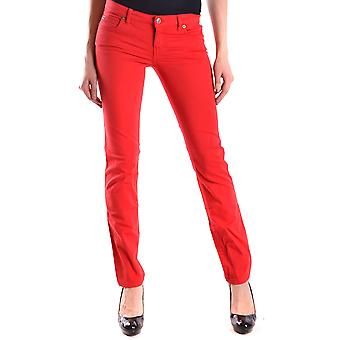 Mcq By Alexander Mcqueen Ezbc053006 Women's Red Cotton Jeans