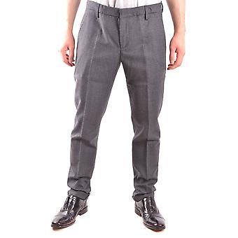 Dondup Ezbc051044 Men's Grey Wool Pants