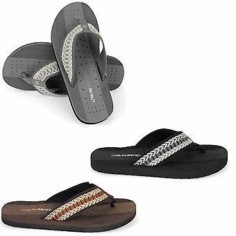 Urban Beach Mens Toe Post Beach Flip Flops sandaler