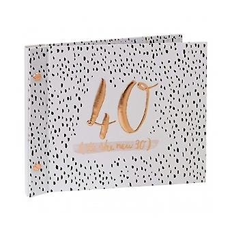 Luxe Ladies 40th Birthday Photo Album Guest Book