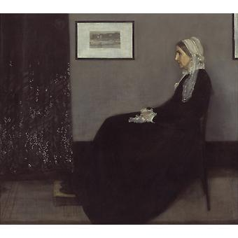 Portrait of Painter-s Mother, James Mcneill Whistler, 50x44cm