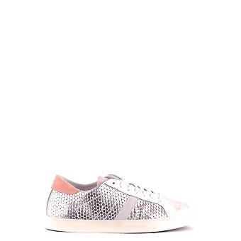 D.a.t.e. Ezbc177014 Women's Silver Leather Sneakers