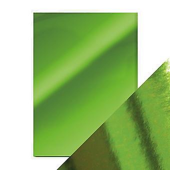 Handwerk perfekte A4 Hochglanz Spiegel Karte Smaragd grün Tonic Studios