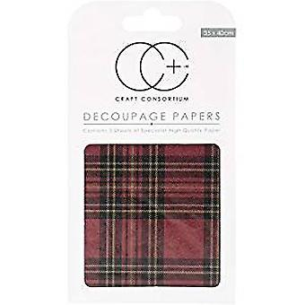 Craft Consortium Tartan Decoupage Papers