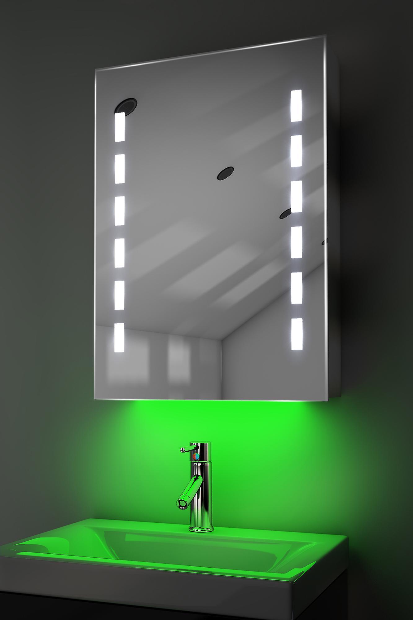 Demist Cabinet With RGB , Sensor & Internal Shaver k355rgb