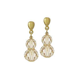 Ewige Sammlung Echo Golden Shadow österreichischen Kristall Gold Ton Drop-Clip auf Ohrringe