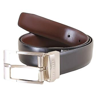 Ted Baker Connary Reversible Prong Buckle Belt - Black/Brown