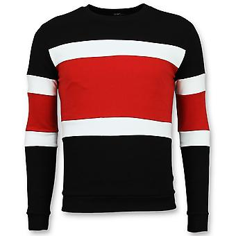 Striped Sweater Mens -   Truien - Rood