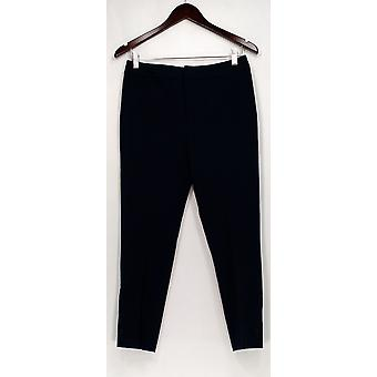 Kelly by Clinton Kelly Pants Cropped w/ Button Cuffs Blue A295549
