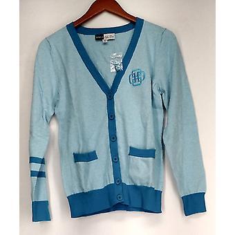 Simply Chole Dao Sweater V Neck Cardigan Light Blue Womens