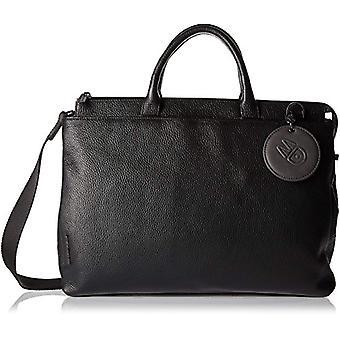 Mandarin duck Mellow Leather Strap - Black Women's shoulder bags 14x28x38 cm (B x H T)