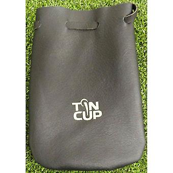 Tin Cup Leather Pouch- Black