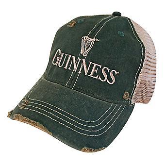 Guinness Faded Retro Brand Men's Green Trucker Hat