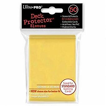 Ultra Pro SLEEVES 50 D12 Card Game - Yellow