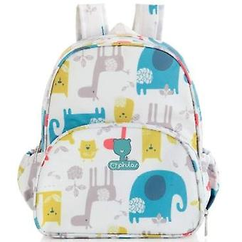 Pirulos 4741220 ? Backpack - Happy Zoo pattern - 26 x 30 x 12 cm - color: white/grey