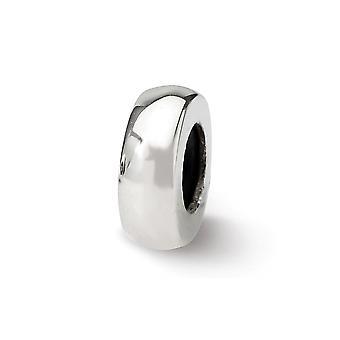 925 Sterling Silber poliert Reflexionen Stopper Spacer Perle Anhänger Anhänger Halskette Schmuck Geschenke für Frauen