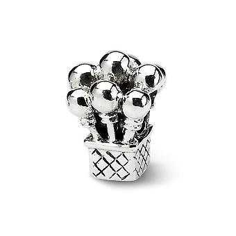 925 Sterling Silver Polerad finish Reflektioner Kids Ballonger Pärla Charm Hängande Halsband Smycken Gåvor för kvinnor