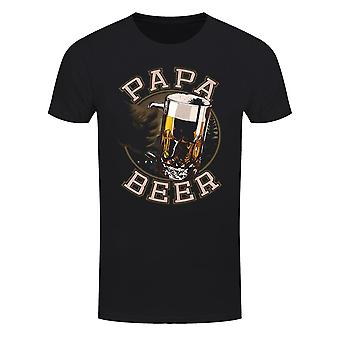 Grindstore Mens Fathers Day Papa Beer T-paita
