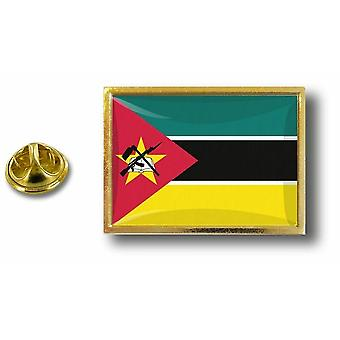 Pine Pines Badge Pin-apos;s Metal With Butterfly Pinch Flag Mozambik