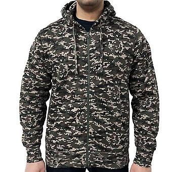 Spel digitale camouflage zip hoodie