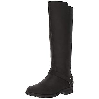 Teva Womens de la vina Leather Round Toe Knee High Fashion Boots