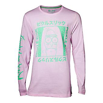 Rick And Morty Japan Pickle Long Sleeve Shirt Homme Grand Rose (LS708685RMT-L)