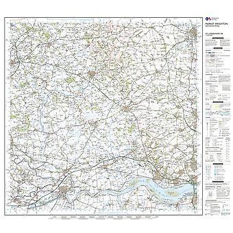 New OS Landranger 106 Market Weighton Goole & Stamford Bridge Map Orange