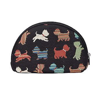 Playful puppy big cosmetic bag by signare tapestry / bgcos-puppy
