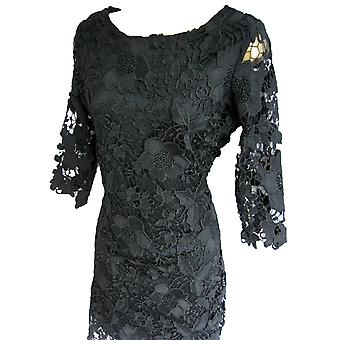 Darling Women-apos;s Black Jenny Long Sleeved Dress L Royaume-Uni 14