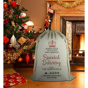 Speical Delivery From The North Pole - Christmas Santa Sack