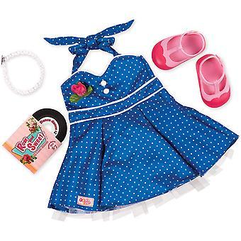 Sukupolven 18 tuuman tanssi osapuolen nukke mekko