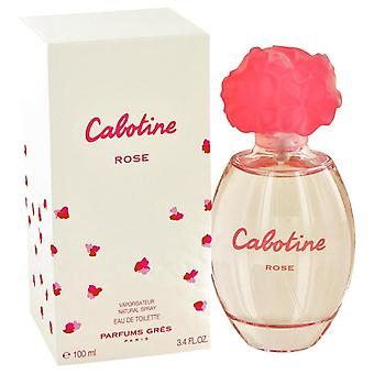 Cabotine rose eau de toilette spray by parfums gres 412565 100 ml