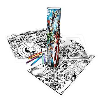 Disney Finding Dory Childrens Girls Official Poster Art Colouring Tube
