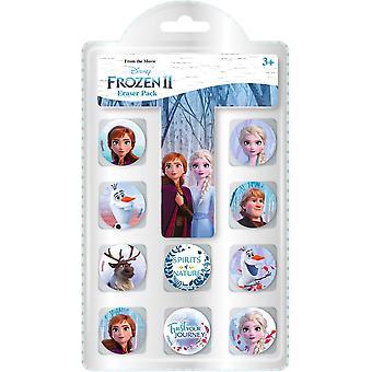 Disney Frozen Frost Elsa Anna Eraser 10-Pack Eraser