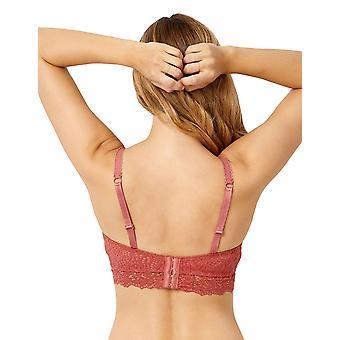 Sans Complexe 90A9611 Kvinnor's Clémence Siena Rose Pink Lace Underwired Longline Bra