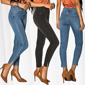Women's Biker High Waist Jeans Sexy Pants Stretch Skinny Treggings Casual Trousers