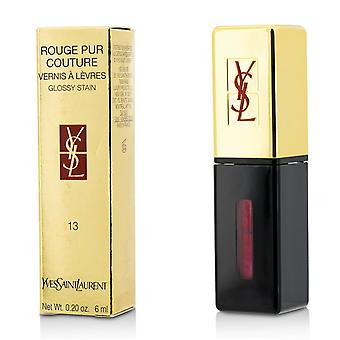 Rouge Pur Couture Vernis a Levres Glossy Stain - # 13 Rose Tempura 6ml/0.2oz