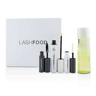 Sistema de transformação de LashFood Lash: (1 x cílios Enhancer, 1 x Lash Primer, 1x Mascara, 1x removedor de maquiagem olho) 4pcs