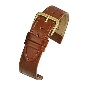 Buffalo grain watch strap tan