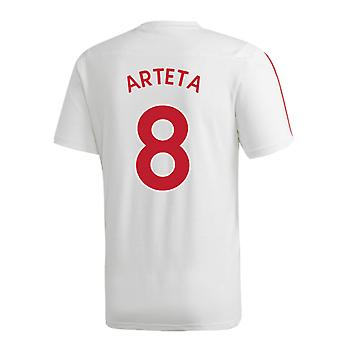 2019-2020 Άρσεναλ μπλουζάκι προπόνησης Adidas (λευκό) (Αρτέτα 8)