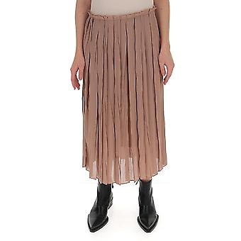 Semi-couture Y0su08var04 Dames's Beige Polyester Skirt