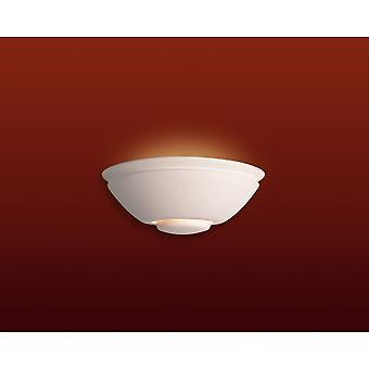 Firstlight Ecliptic Art Deco Zen Matt White Wall Uplighter