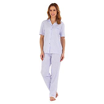 Slenderella PJ55104 Women's Floral Cotton Pyjama Set